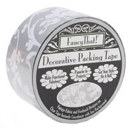 "Decorative Packing Tape 1.875"" Wide 25 Yard Roll Silver Scroll at Kmart.com"