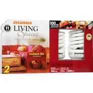 Sylvania Living Spaces CFL Light Bulbs, Energy Efficient, Instant-On, 2 bulbs at Kmart.com