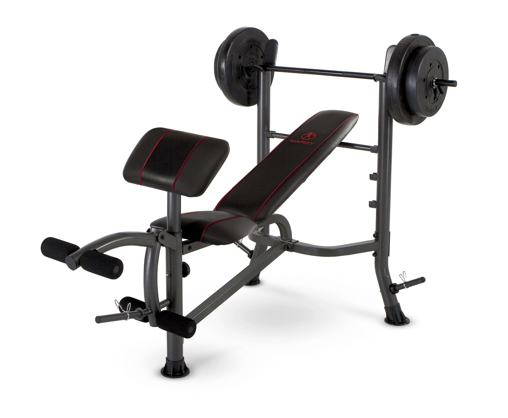 Marcy  Standard Weight Bench with 80 LB