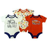 Disney Baby Newborn Boy's Bodysuit 3pk Cars Short Sleeve Snap Closure Multicolored at Kmart.com