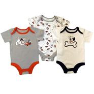 Disney Baby Newborn Boy's Bodysuits 3pk Dalmatians Short Sleeve Snap Closure Multicolored at Kmart.com