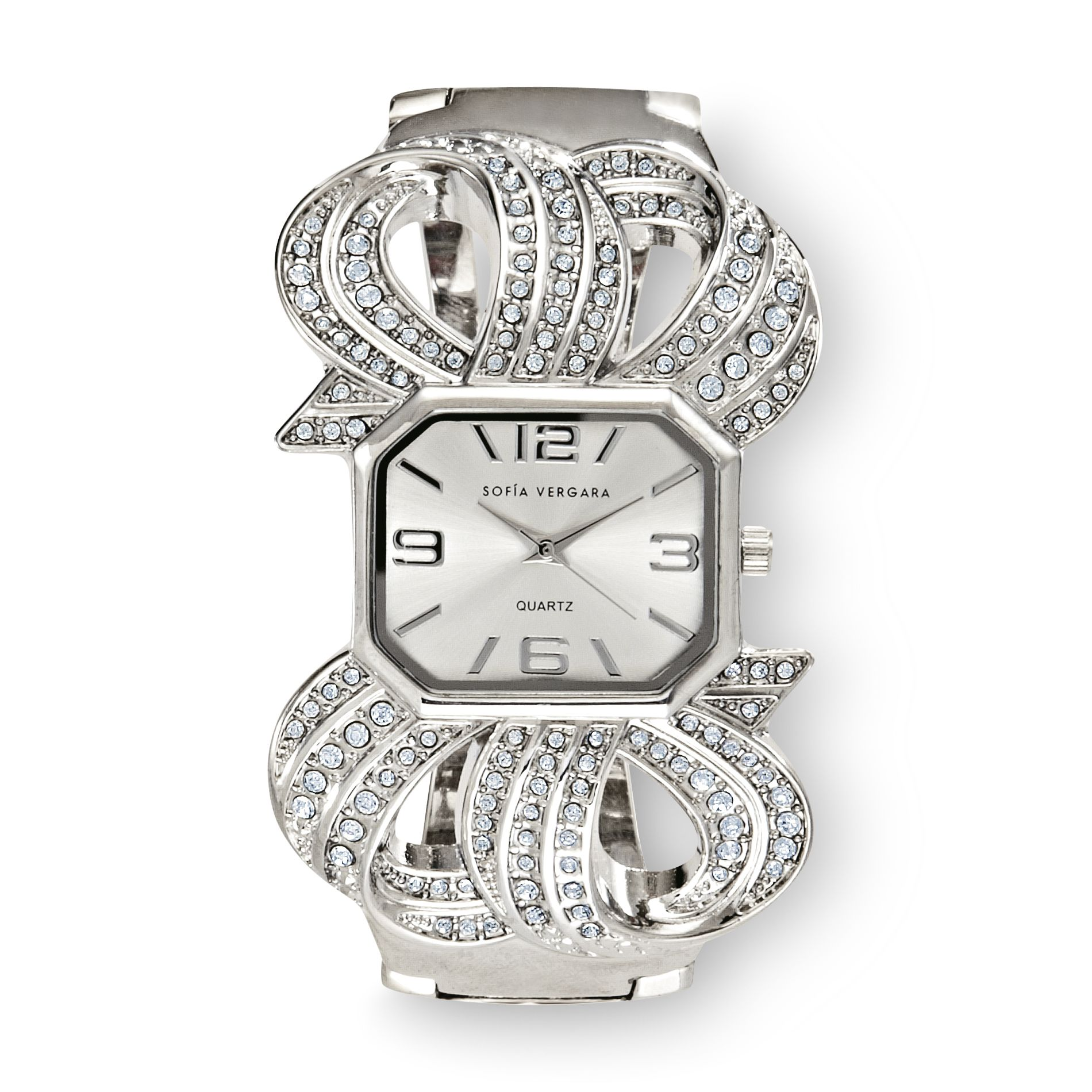 Women's Watch Crystal Accent Ribbon
