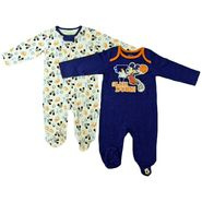 Disney Baby Newborn Boy's Sleepers 2pk Mickey Long Sleeves Footed Zipper/Snap Closure Multicolored at Kmart.com
