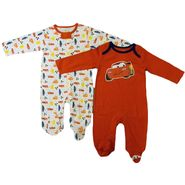 Disney Baby Newborn Boy's Sleepers 2pk Cars Long Sleeves Footed Zipper/Snap Closure Multicolored at Kmart.com