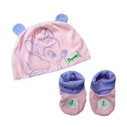 Disney Baby Baby Girl's Cap/Bootie Set 2pc Bambi Pink/Purple at Kmart.com