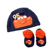 Disney PIXAR Cars Baby Boy's Cap/Bootie Set 2pc Cars Navy/Orange at Kmart.com