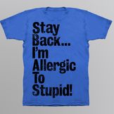 Men's T-shirt 'Allergic to Stupid' Graphic Royal at mygofer.com