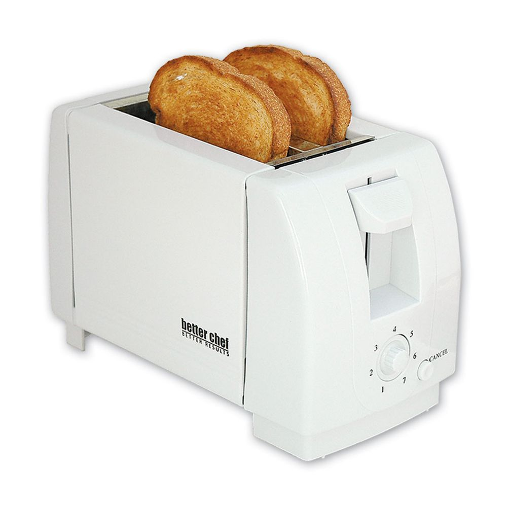 Image of Better Chef 97080182M 2-Slice Toaster with Wide Slots - White-IM-210W