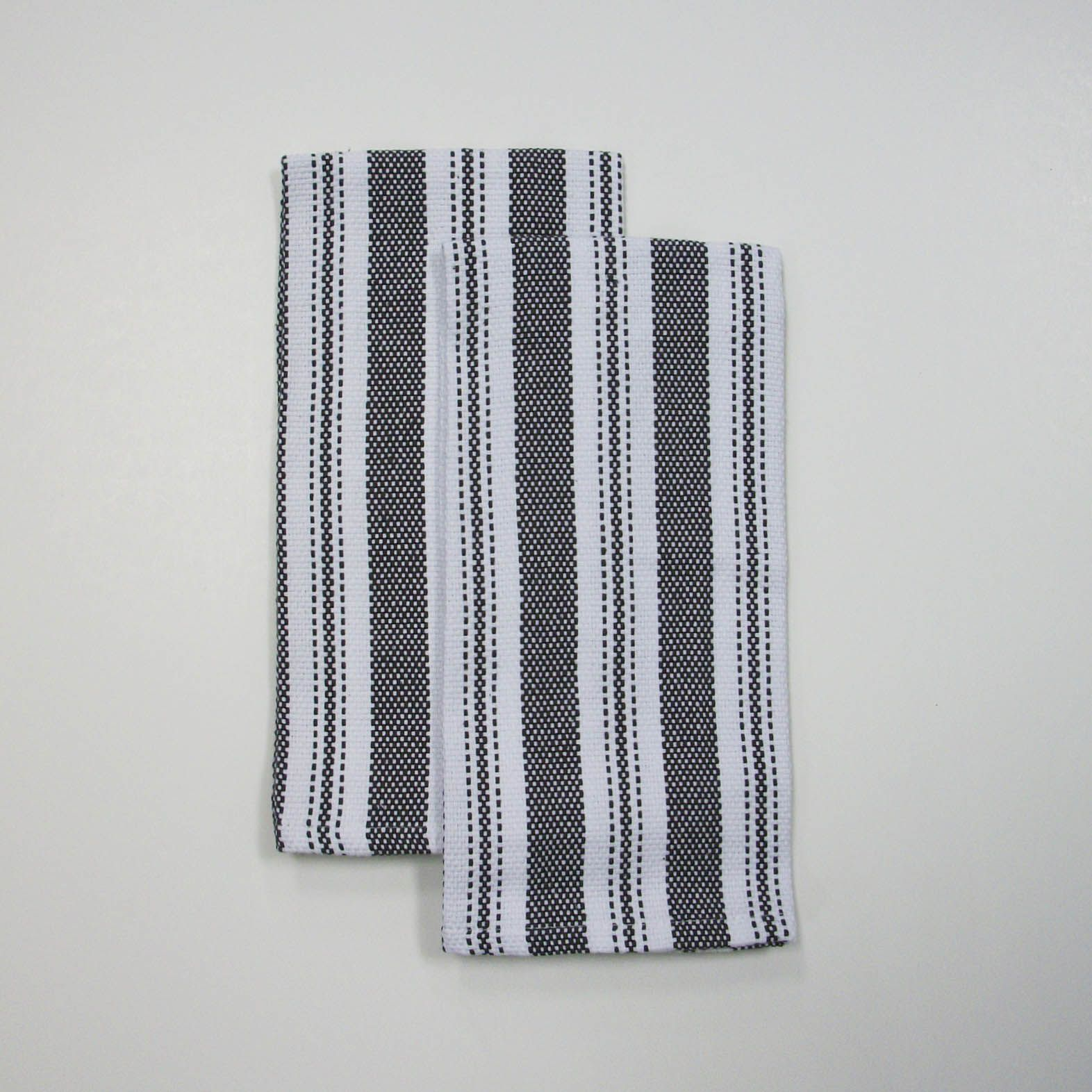 Essential Home 2 pk Stripe Kitchen Towel Set