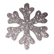 Battery Op 25lt LED Spun Glitter Silver Snowflake at Kmart.com