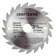CRAFTSMAN NEXTEC 3 3/8IN CIRCULAR SAW BLADE at Craftsman.com