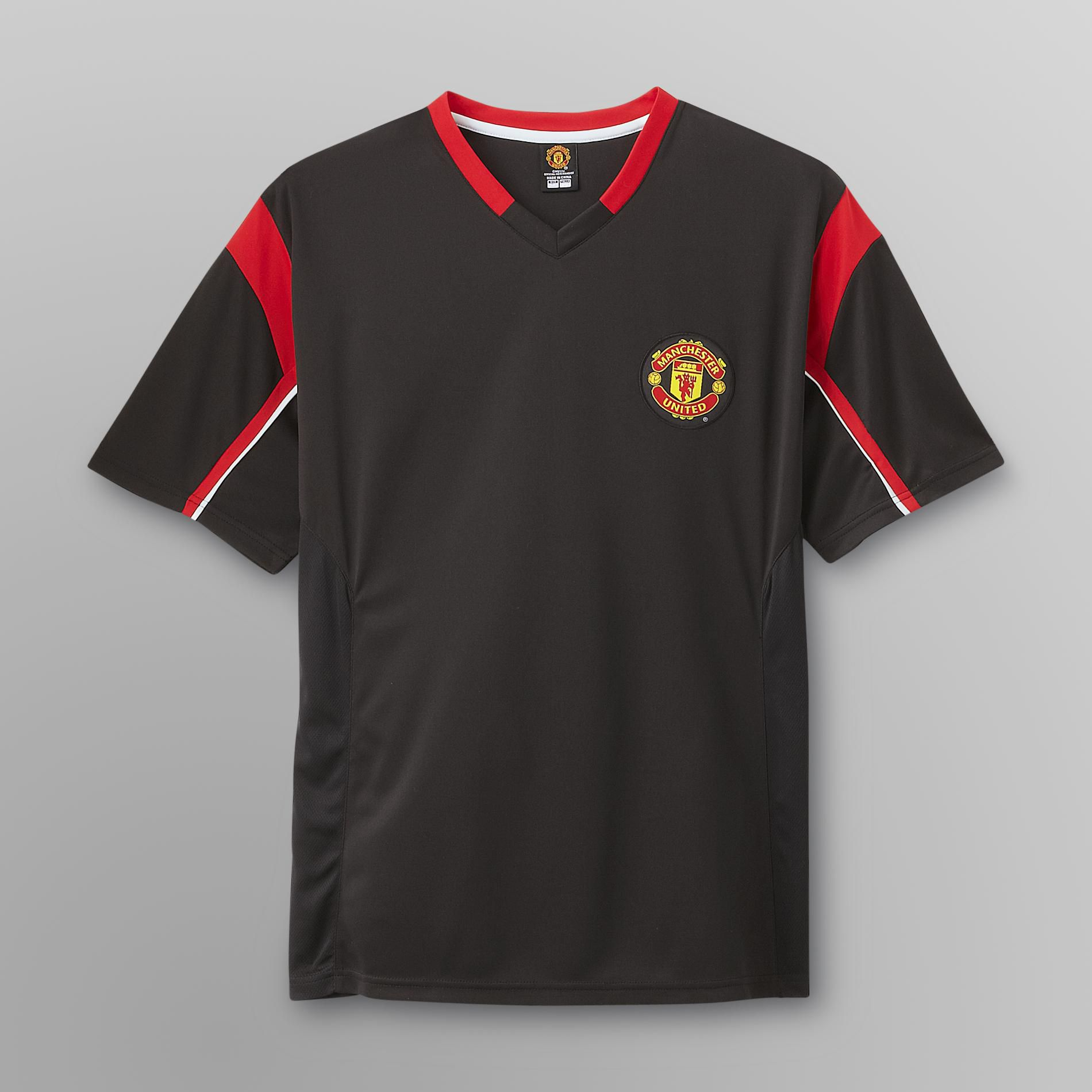 EURO SOCCER Men's Manchester United Black Soccer Jersey at Kmart.com