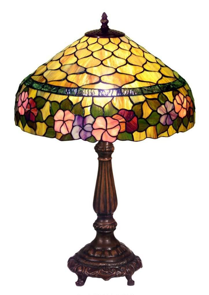Warehouse of Tiffany Tiffany-style Peony Table Lamp