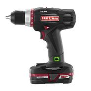 Craftsman Cordless Drill with Lithium-Ion Battery & D...