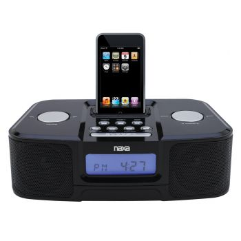 NI-3103 Digital Alarm Clock Radio with Dock