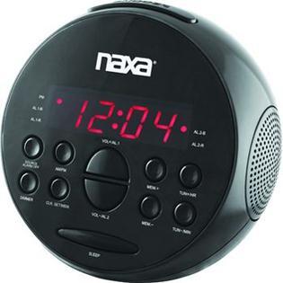 Naxa PLL Digital Alarm Clock with AM/FM Radio & Snooze