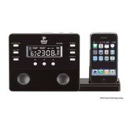 Pyle Enhanced iPod/iPhone Alarm Clock Speaker System w/ AM FM Radio and Remote Control (Black) at Kmart.com