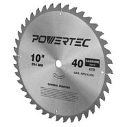 Powertec 15011 TABLE SAW BLADE 10-INCH 40 TEETH ATB WITH 5/8 ARBOR at Sears.com