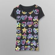 Route 66 Girl's Graphic T-Shirt - Peace, Hearts & Stars at Kmart.com