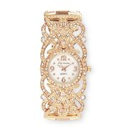 Sofia by Sofia Vergara Ladies Crystal Accent Champange Dial Filigree Rose Gold Tone Bracelet Band Watch at Kmart.com