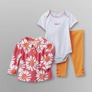 Little Wonders Infant Girl's Flower Jacket, Bodysuit & Leggings at Sears.com