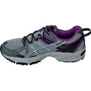 Asics Women's GEL-Venture 3 Trail Running Athletic Shoe - Grey/Black/Purple at Sears.com