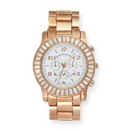 Sofia by Sofia Vergara Women's Watch Round Baguette Stone at Kmart.com