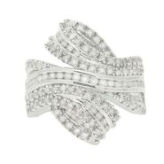 Rhodium Plated 2.00cttw Diamond Swirl Ring at Sears.com