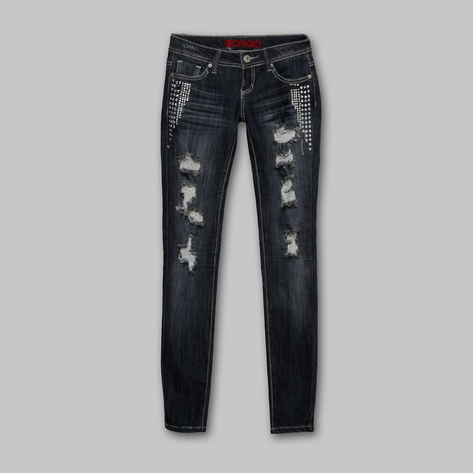 Bongo Junior's Jeans Skinny Bling Back Pocket Destruction at Sears.com