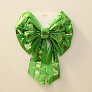 Trim A Home® 16in Satin & Glitter Bow - Green at Kmart.com