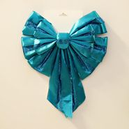 Trim A Home® 16in Satin & Glitter Bow - Aqua at Kmart.com