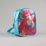 Disney Girl's Mini Backpack Ariel Glitter Zipper Closure Blue at Kmart.com
