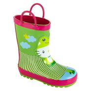 Western Chief Toddler/Youth Girl's Hello Kitty Polka Dot Frog Rain Boot - Green at Sears.com