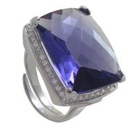 Grand Luxe Simulated Amethyst Rhodium Plated Ring at Sears.com