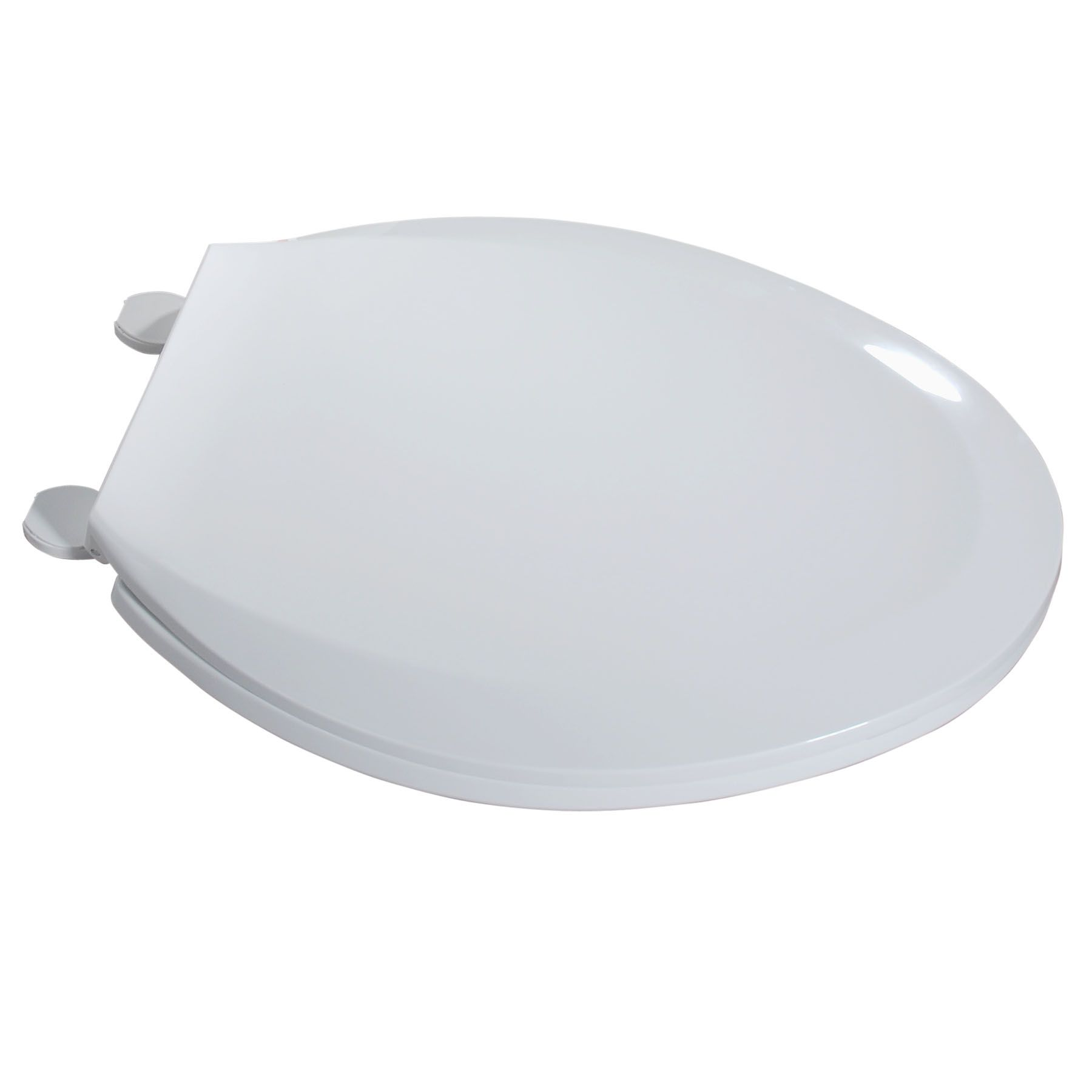 Plastic Elongated Toilet Seat in White