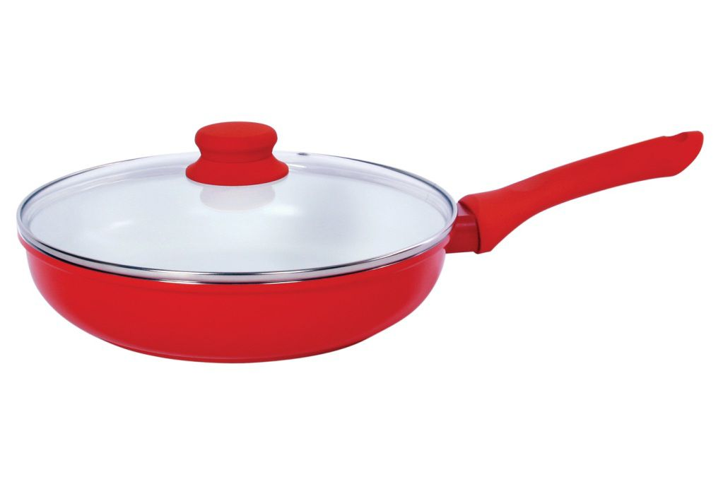 Vinaroz 11 Red Die Cast Aluminum Fry Pan