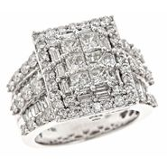 Tradition Diamond 4 cttw Diamond Bridal Ring 10k White Gold at Sears.com