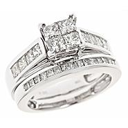 Tradition Diamond 2 cttw Diamond Engagement and Wedding Band Ring Set 10k White Gold at Sears.com