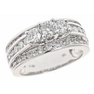 Tradition Diamond 2 cttw Diamond 3 Stone Round Fashion Ring 10k White Gold at Sears.com