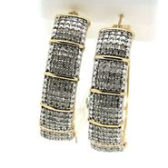 Gold Plated 2.00 cttw Diamond Straight Line Earrings at Sears.com
