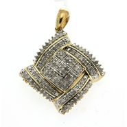 Gold Plated 1.00cttw Diamond Pendant at Sears.com