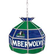 NBA Minnesota Timberwolves 16 inch Stained Glass Tiffany Style Lamp at Sears.com