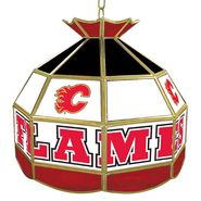 NHL Calgary Flames 16 inch Stained Glass Tiffany Style Lamp at Sears.com