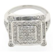 Sterling Silver 1.00cttw Princess Ring at Kmart.com