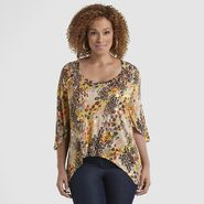 Beverly Drive Women's Plus Jersey Top - Leopard Print at Sears.com