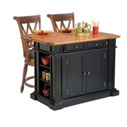 Home Styles Kitchen Island and Two Deluxe Bar Stools at Sears.com