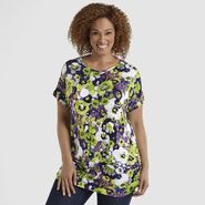 Beverly Drive Women's Plus Print Top at Sears.com