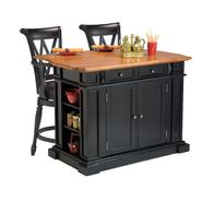 Home Styles Kitchen Island and Two Deluxe Bar Stools at Kmart.com