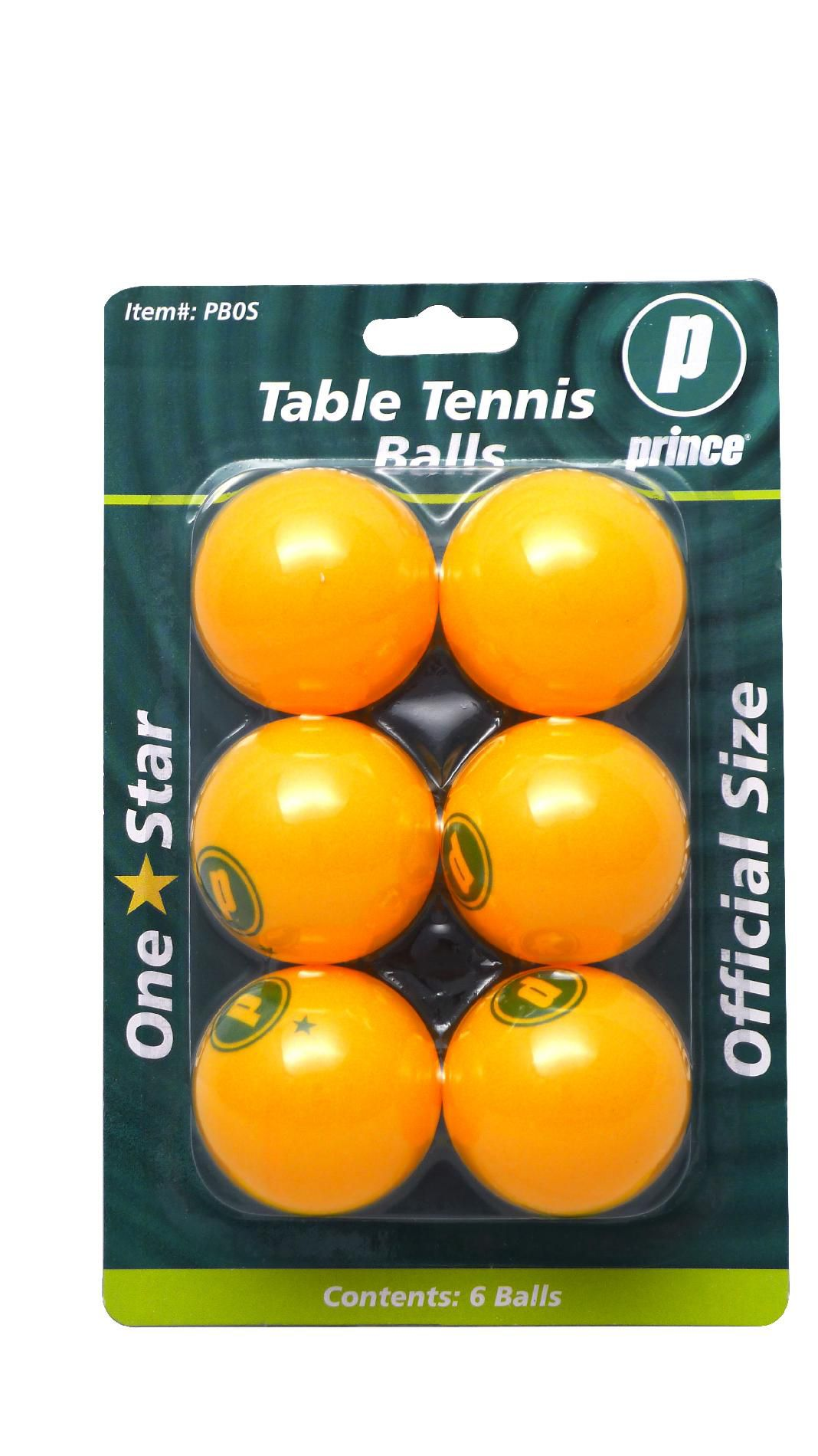 Prince Table Tennis Balls - Orange