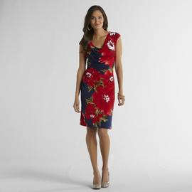Ronni Nicole Women's Draped Neck Dress - Floral at Sears.com